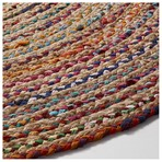 Dywan Samy Jute Round 100 Natural Multicolor Aa1256fn35 Średnica 100,0/Jutowy